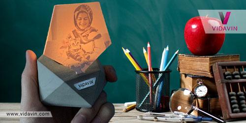 هدیه برای معلم ها جاشمعی زیبا