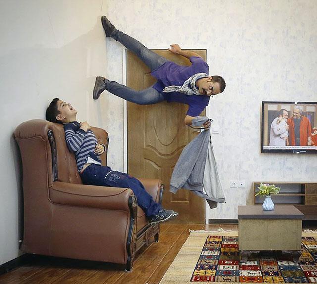 صالح سخندان در خانه وارونه