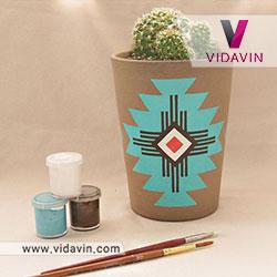 کادو دست ساز به معلم گلدان طرح دار