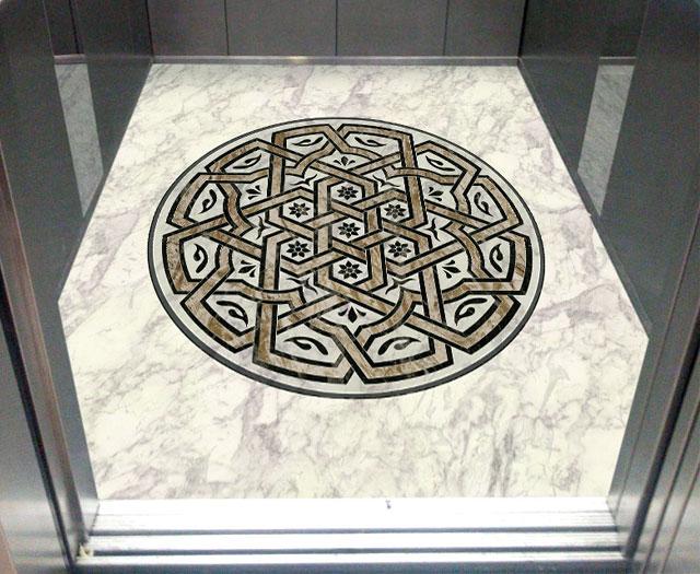 معرق سنگ آسانسور
