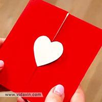 کارت پستال عاشقانه - هدیه ساختنی- هدیه دست ساز