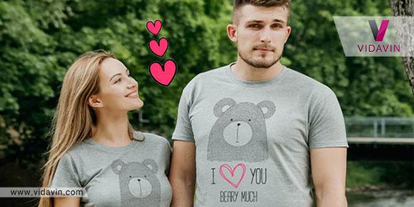 تی شرت ست هدیه ی ولنتاین برای دختر ها