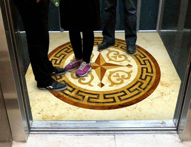 کفپوش آسانسور سه