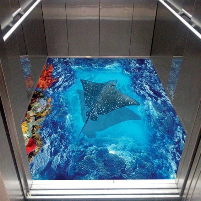 کفپوش سه بعدی کف آسانسور دریا