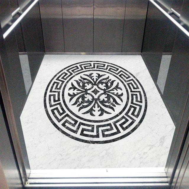 کفپوش کابین آسانسور لاکچری