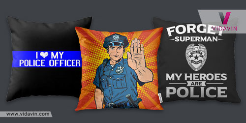 کوسن با طرح پلیسی