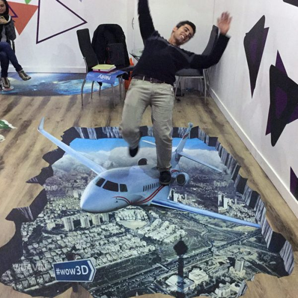 استیکر سه بعدی هواپیما