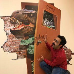 استیکر سه بعدی دیواری دایناسور