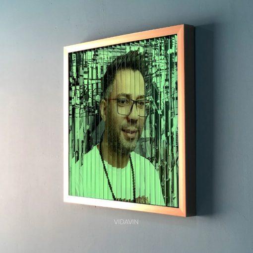 تابلو سه بعدی شب تاب رنگ بژ عکس سوم