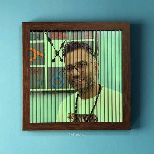قاب عکس سه بعدی فلورسنت رنگ طرح چوب عکس چهارم
