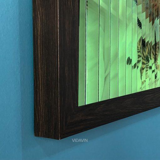 قاب عکس سه بعدی شب تاب رنگ طرح چوب عکس اول