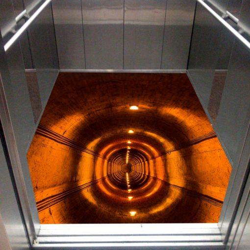 کفپوش سه بعدی آسانسور