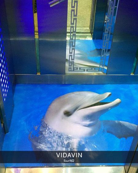 نمونه کفپوش سه بعدی آسانسور طرح دلفین