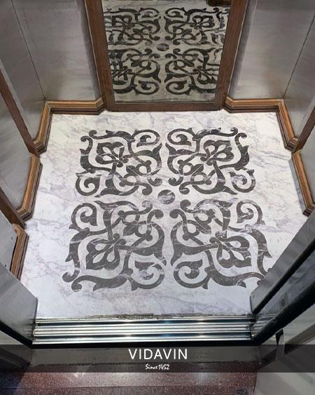 عکس دوم کفپوش کابین آسانسور