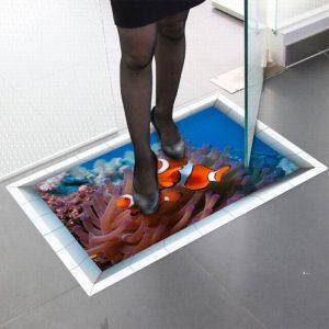 استیکر زمینی طرح دلقک ماهی
