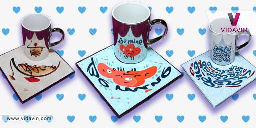 خرید کادو ولنتاین برای پسر مورد علاقه- لیوان آینه ای خاص و عاشقانه- کادو عاشقانه