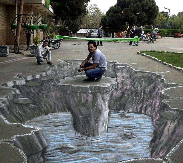 نقاشی سه بعدی توسط صالح سخندان