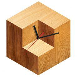 ساعت دیواری مربع چوبی