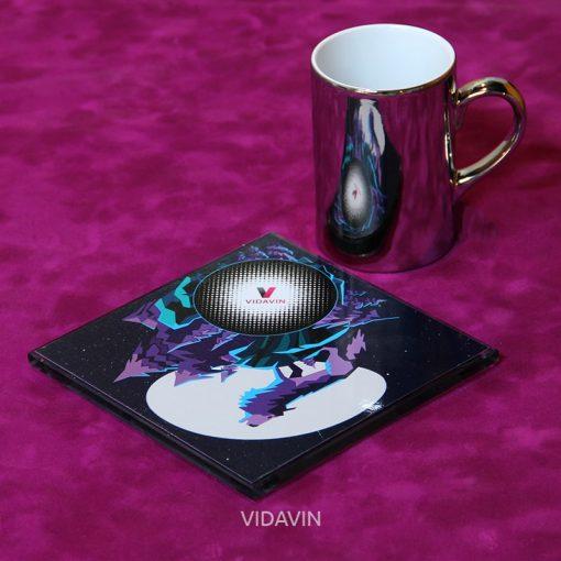 لیوان آینه ای ویداوین طرح Wolf عکس شماره چهار