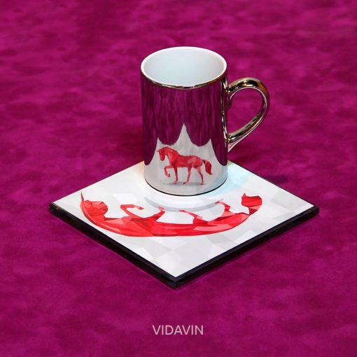 لیوان آینهای ویداین طرح Horse عکس شماره چهار